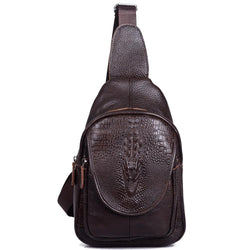 Bags - Casual Genuine Leather Men's Crossbody Chest Bags - Bevsu