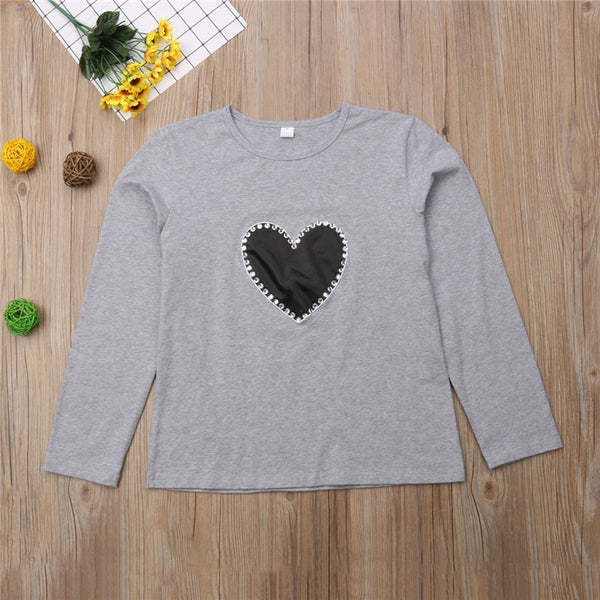 Parent-child heart-shaped T-shirt