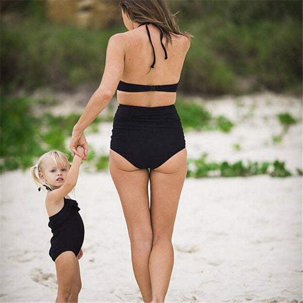 High waist parent-child swimsuit