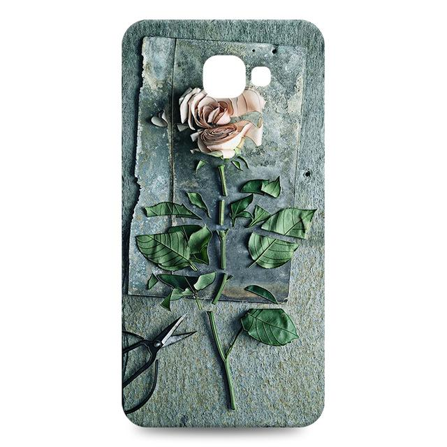 3D Relief Rose Silicone Phone Cases For Samsung Galaxy A3 A5 A7 A8 A9Pro - bevsu