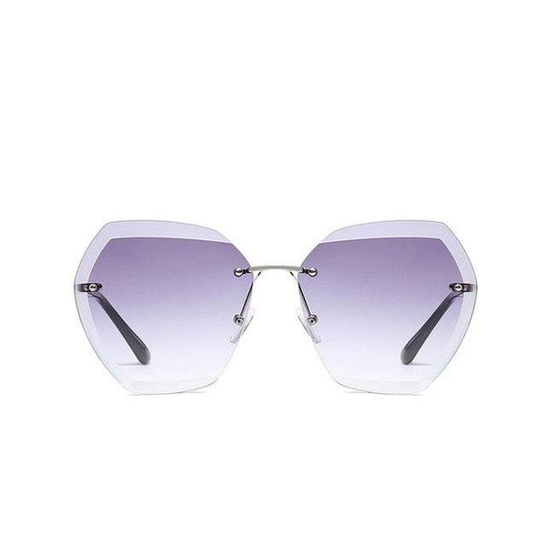 Women's Elegant Optics Rimless Sunglasses