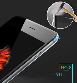 4D Full Ultra Thin Tempered Glass Toughened Film Over For iPhone 8 Plus 6 6S 7 Plus X - bevsu