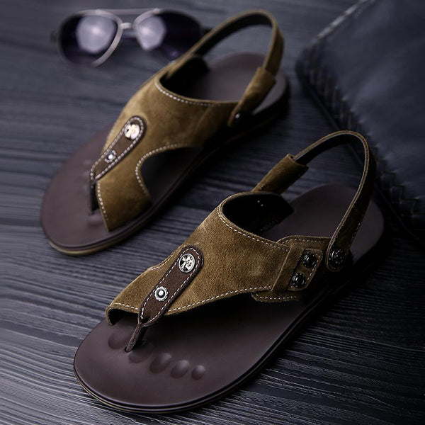 Fashion Cow Suede Leather Beach Water Sandals