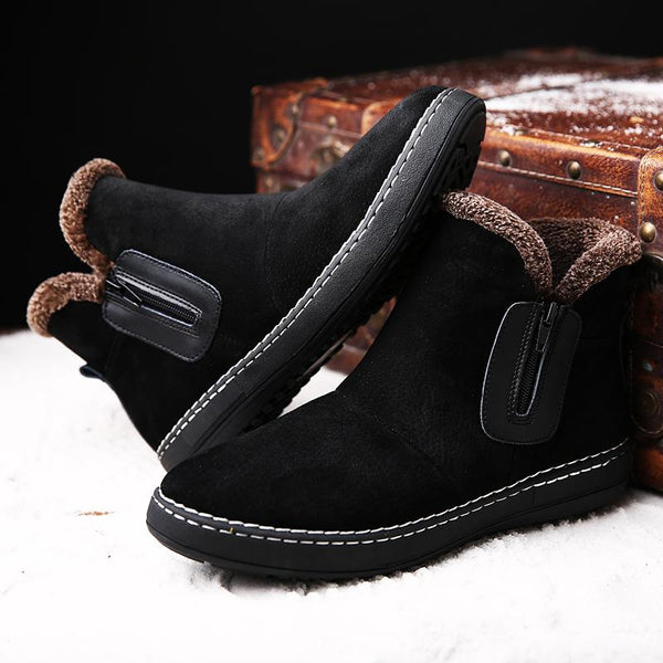 Boots - Handmade Side Zipper Warm Men's Boots - Bevsu