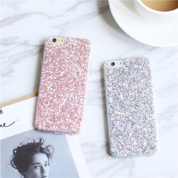 Bling Glitter TPU Crystal Sparkles Soft Case for iPhone - Bevsu