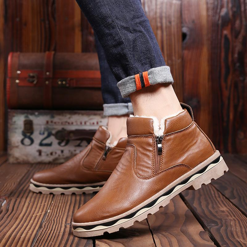 Boots - 2017 New Fashion Winter Warm Wool Man British Martin Boots - Bevsu