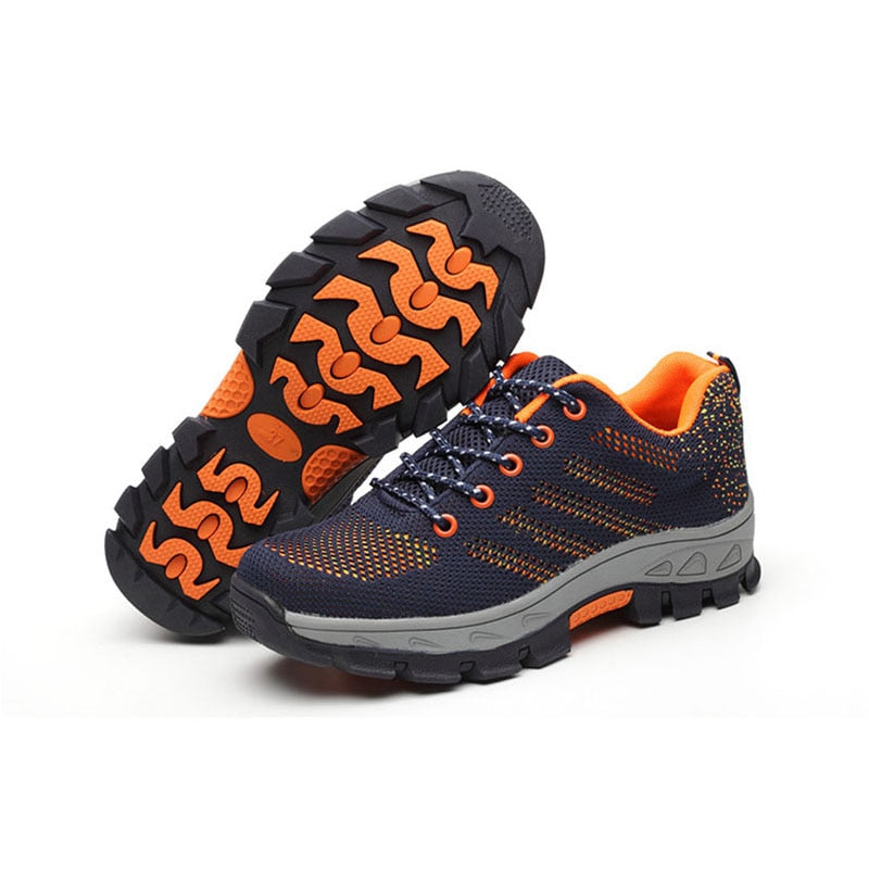 267025ebb9f Men's Breathable Steel Toe Cap Work Safety Shoes Men Outdoor Anti ...