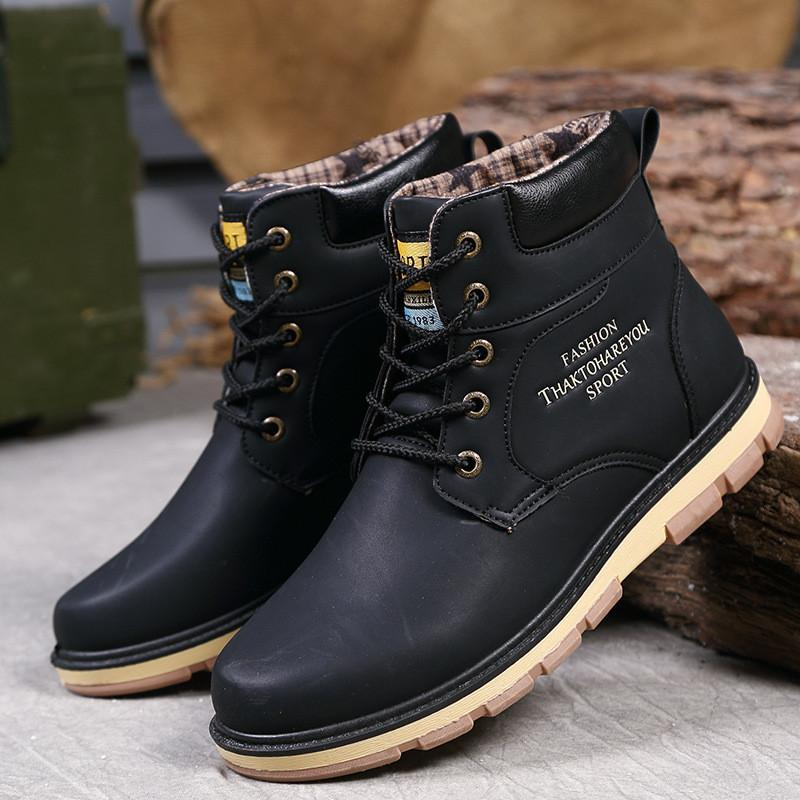 Boots - High Quality Leather Wear Resisting Anti-skid Men's Boot-old - Bevsu