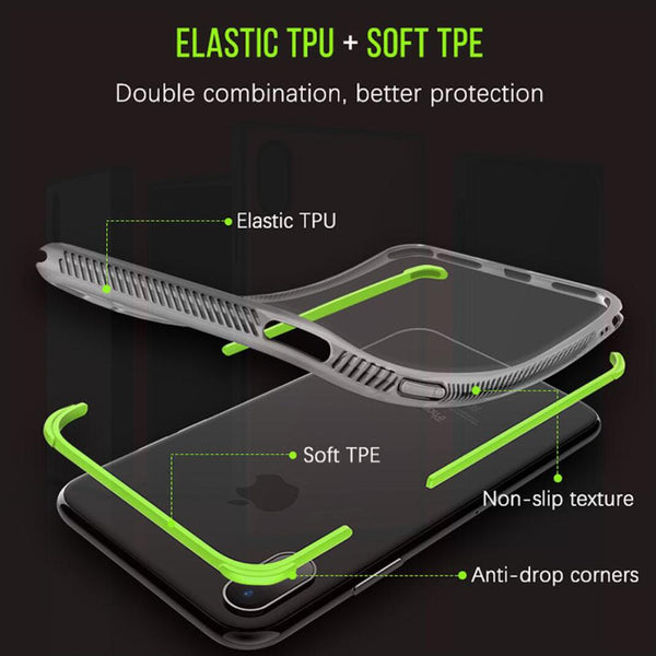 Anti-Knock Carbon Fiber TPU Phone Cases For iPhone 6 6s 7 8 Plus X - Bevsu