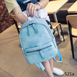 Backpack - Fashion Casual Mini Leather Backpack - Bevsu