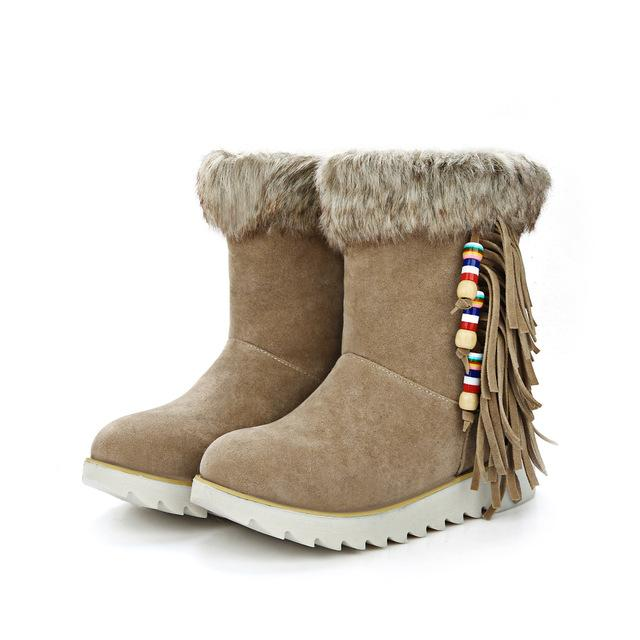 Boot - 2017 Hot Snow Boots with Tassels - Bevsu