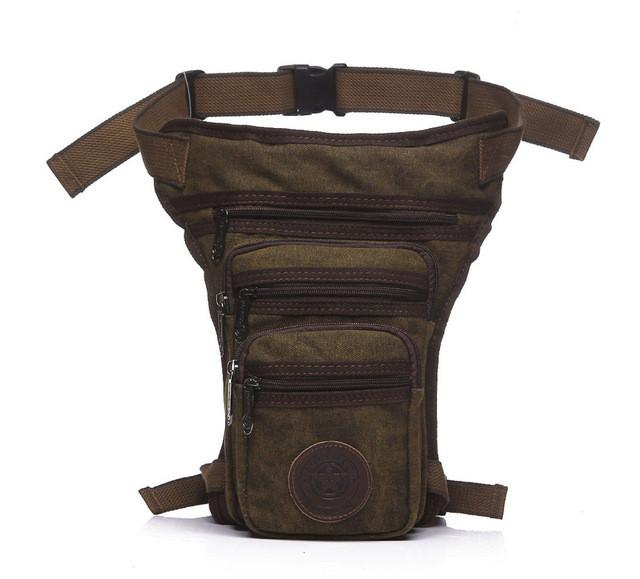 Bags - Canvas Drop Leg Bag Waist Pack - Bevsu
