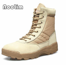 Boots - 2017 Light Genuine Leather Military With Side Zipper Men's Boots - Bevsu