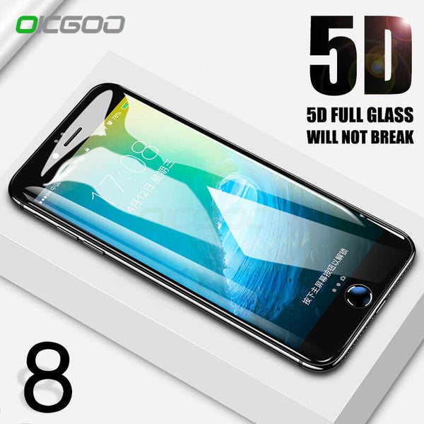 5D Full Cover Tempered Glass For iPhone 8 7 6 6S Plus - bevsu