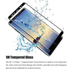 3D Curved Full Cover Screen Protector Tempered Glass for Samsung Galaxy Note 8 - bevsu