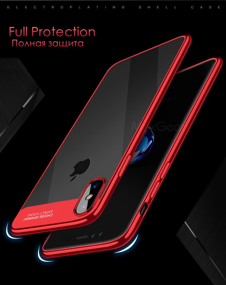 3D Transparent Soft TPU Silicon For iPhoneX - bevsu