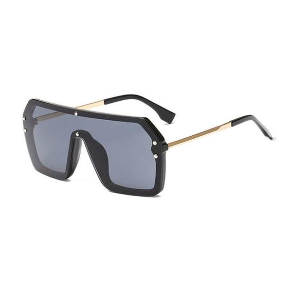 Sunglasses - Women's Oversize Letter Mirror Coating Sunglasses