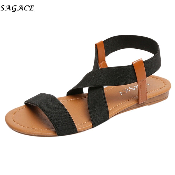 Summer beach ladies open toe flat sandals