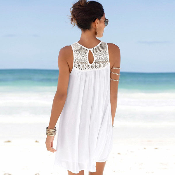 Sleeveless Bohemian Beach Skirt