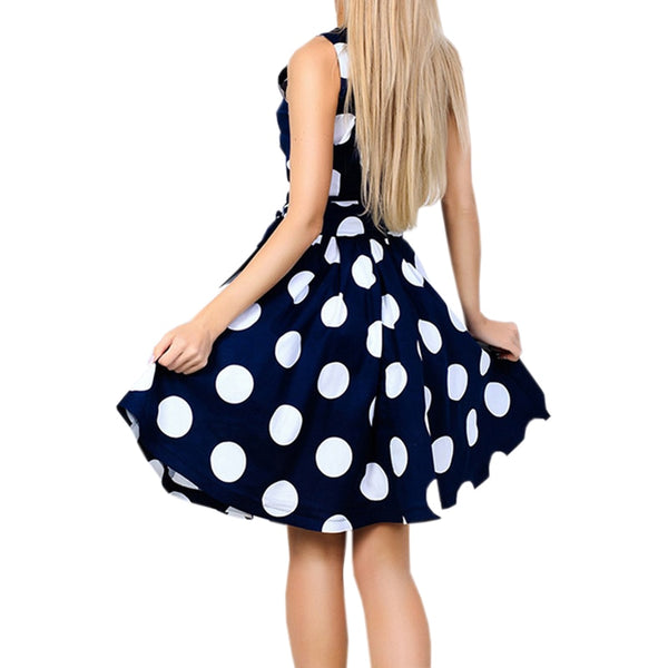 Beach Girl Sweet Summer Polka Dot Mini Dress