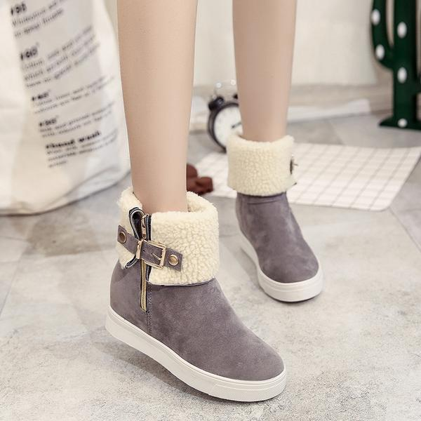 Boots - Fur Warm Classic Women Leather Snow Boots - Bevsu
