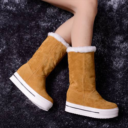 Boots - Fashion Sweet Warm Platform Women Winter Boots - Bevsu