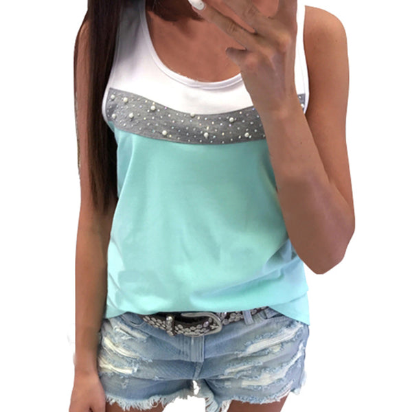 Sleeveless beaded vest