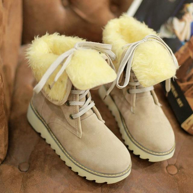 Boots - 2017 New Women Ankle Snow Boots - Bevsu