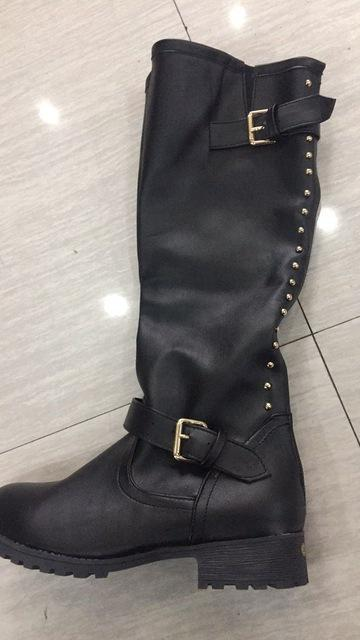 Autumn Women Rivets Buckle Motorcycle Boots - Bevsu