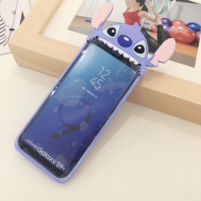 3D Cartoon Silicone Stitch Phone Case For Samsung S6 S7 Edge S8 S9 Plus Note 8 - bevsu