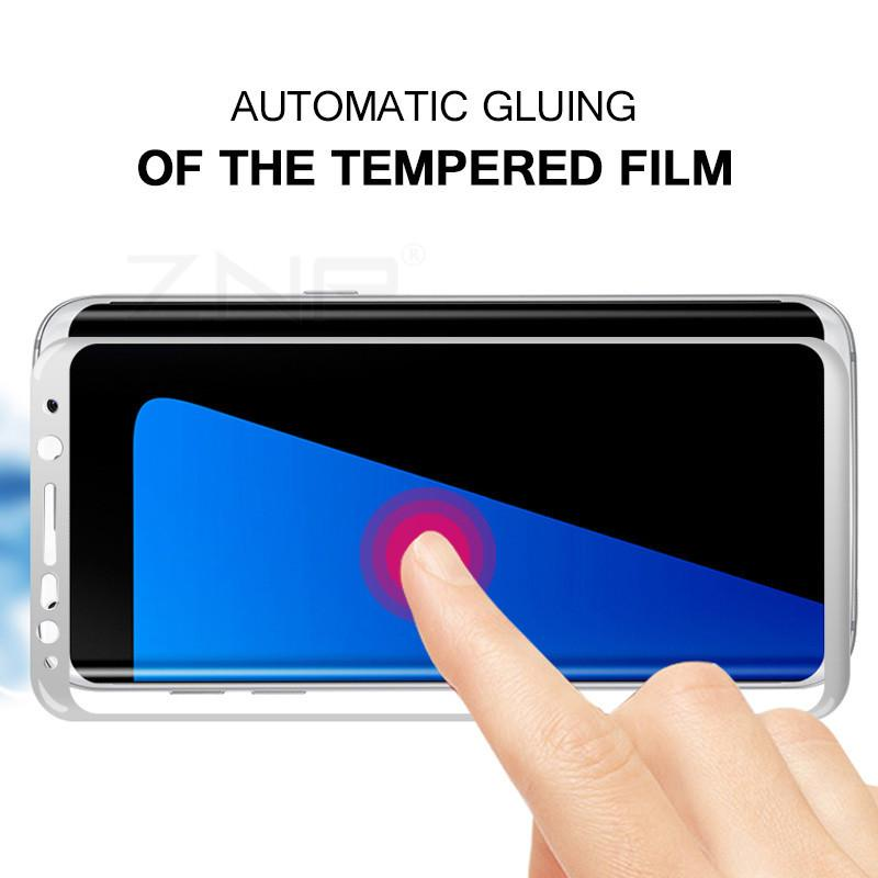 3D Curved Full Tempered Glass Explosion-proof Screen Protector Film for Samsung Galaxy S8/S8 plus - bevsu