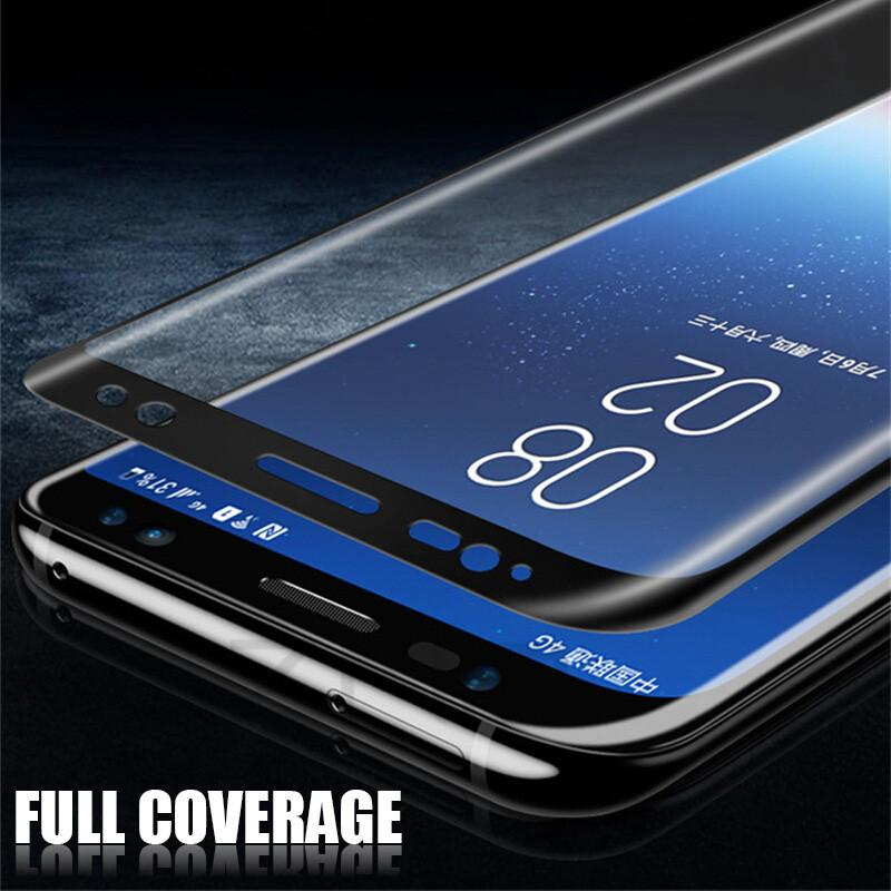 9H Curved Surface Full Screen Protector For Samsung Galaxy S6 S7 Edge S8 S9 Plus Note 8 - bevsu
