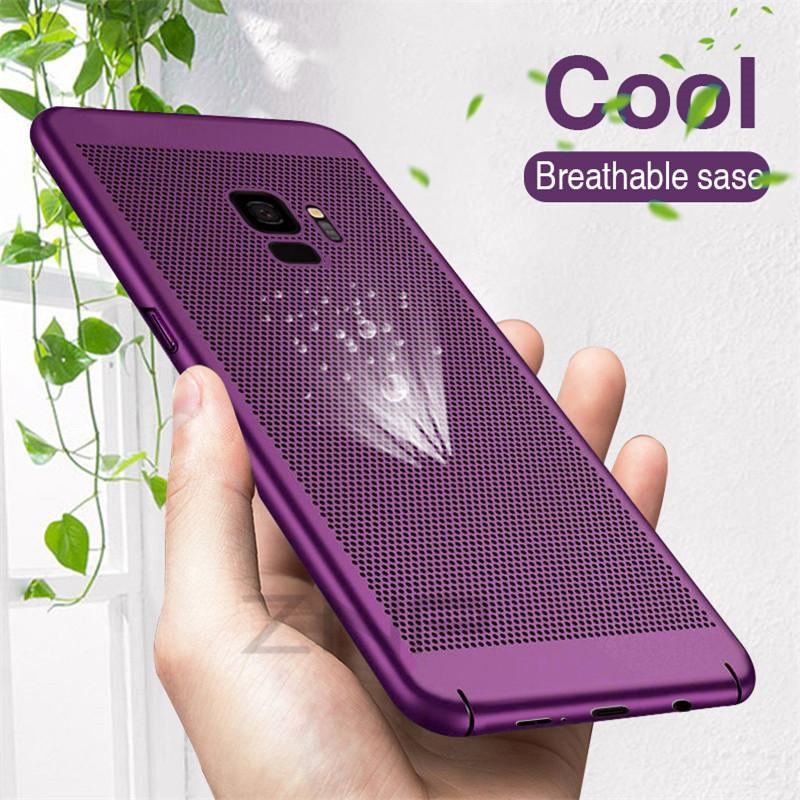 Cool Breathable Fashion Heat Dissipation Phone Case For Samsung Galaxy S6 S7 Edge Note 8 S8 S9 Plus