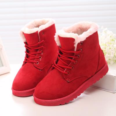 Boots - Warm Fur Lady's Ankle Boots