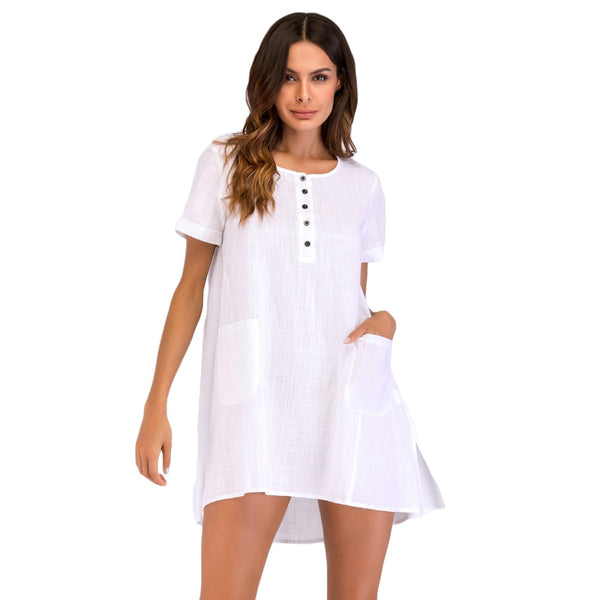 Elegant women's mini loose dress