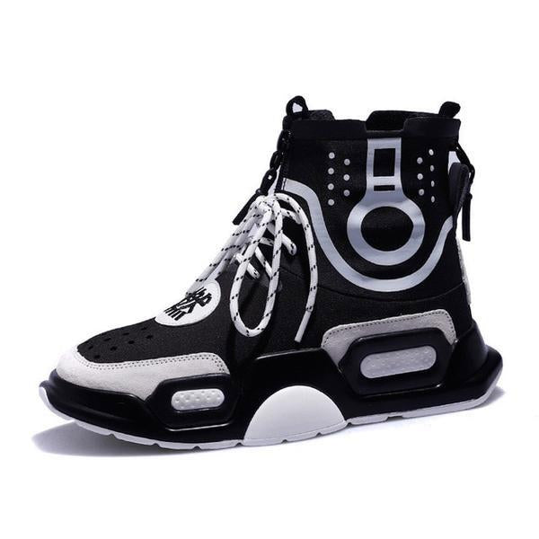 Women's Shoes - Women's Fashion Breathable Leather High Top Sneakers