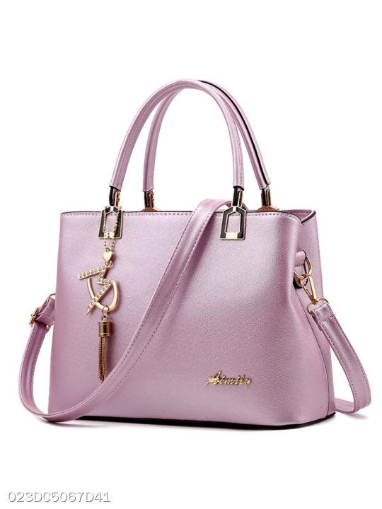 Gold Letters Candy Color Shoulder Bag