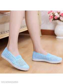Lace Flat Lace Round Toe Casual Flat & Loafers