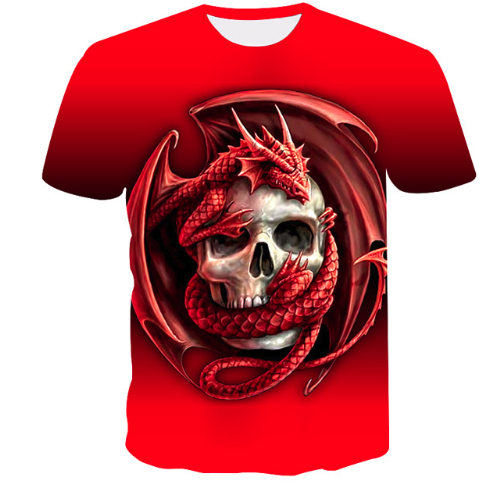 3D Short Sleeve Glow  T-shirts good quality