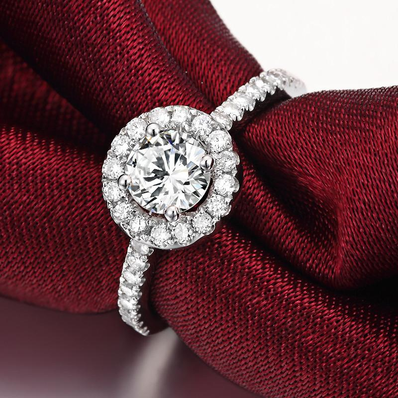 Jemmin Simple Women Crystal 925 Sterling Silver Rings For Wedding
