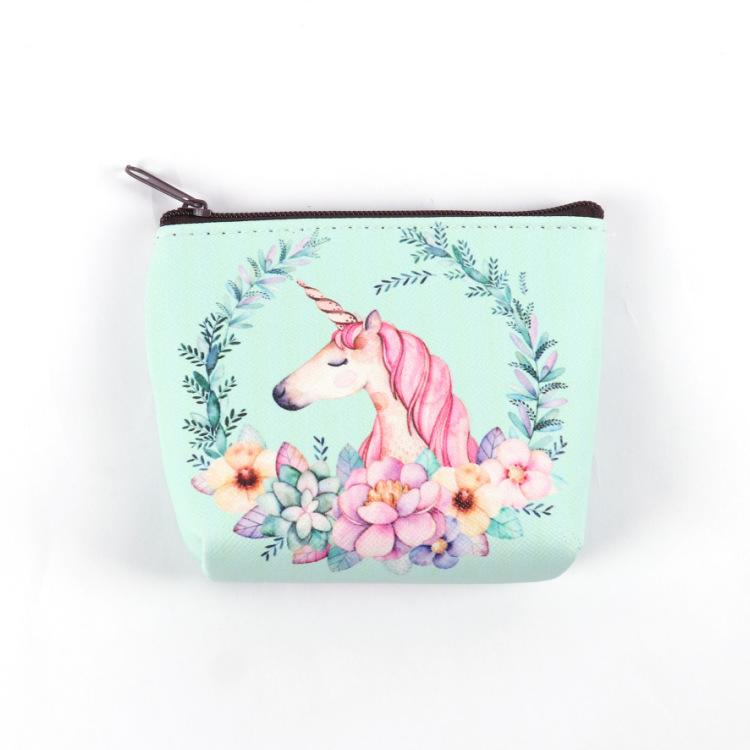 Cute Girl Kids Coin Purses Holder Kawaii Animal Unicorn Flamingo