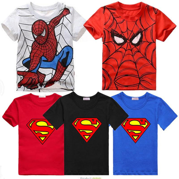Summer Boy T Shirt Popular Hero Cotton Short Sleeve t-shirt