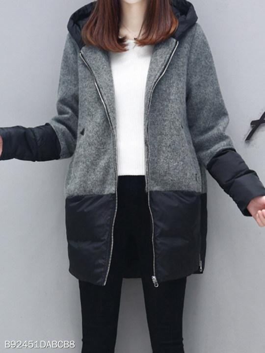 Hooded Patchwork Coat