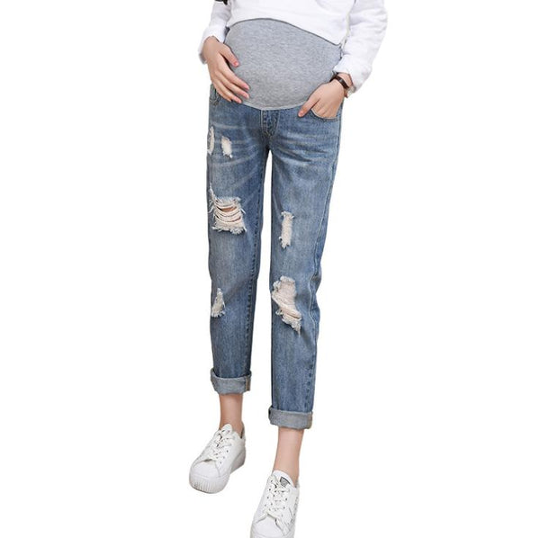 Pregnant Women Pregnancy Winter Warm Jeans Pants
