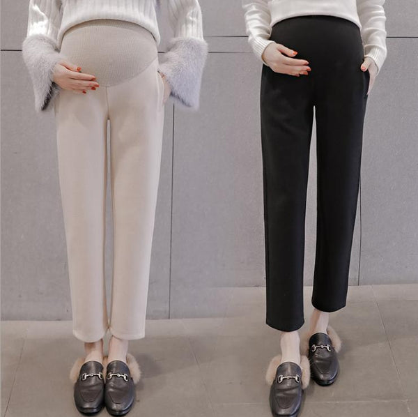 Pregnant Women High Waist Warm Wide Leg Pants