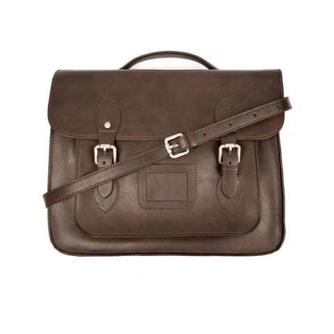 14 Inch Classic Satchel - Dark Brown - Satchel