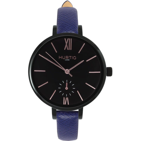 Amalfi Womens Watch - Black / Black / Blue - Watch