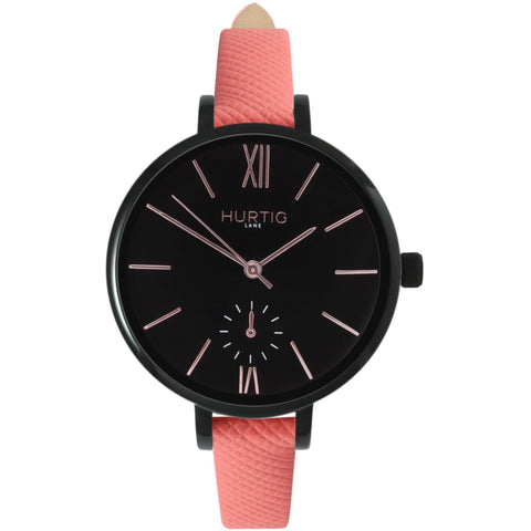 Amalfi Womens Watch - Black / Black / Coral - Watch