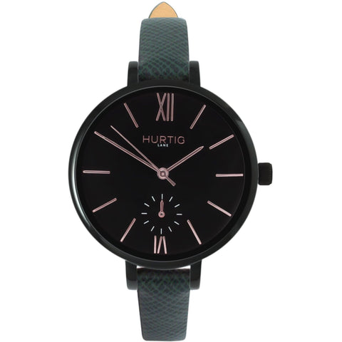 Amalfi Womens Watch - Black / Black / Green - Watch