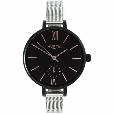 Amalfi Womens Watch - Black / Black / Silver - Watch